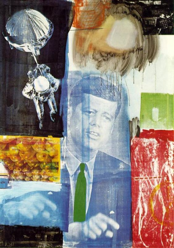 Robert Rauschenberg Pop Art Collage: