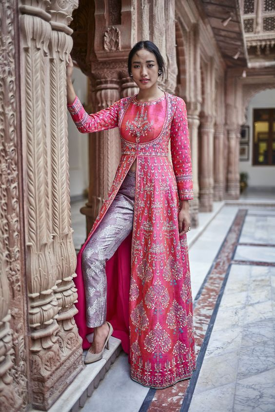 10 South Asian Wedding Guest Outfits Spring 2018 Indian Gowns Dresses Designer Dresses Indian Indian Designer Wear