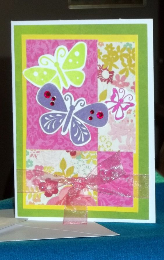 Congratulation Butterfly Card by RJCurtisCrafts on Etsy