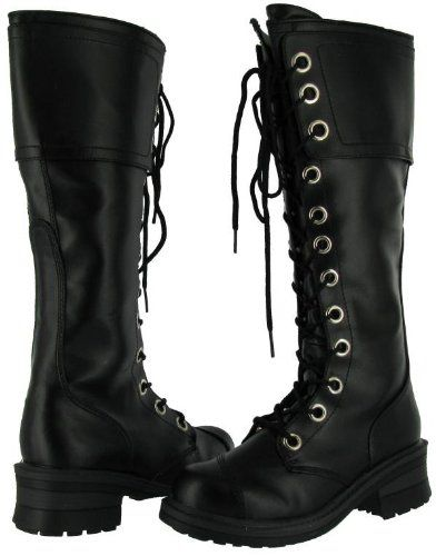 Amazon.com: Nana Pole Climber Women's Vegan Knee-high Combat Boots ...