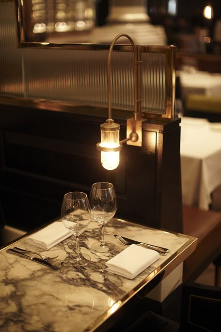 restaurant design | lighting | marble | Massimos, Corinthia Hotel  #RePin by AT Social Media Marketing - Pinterest Marketing Specialists ATSocialMedia.co.uk