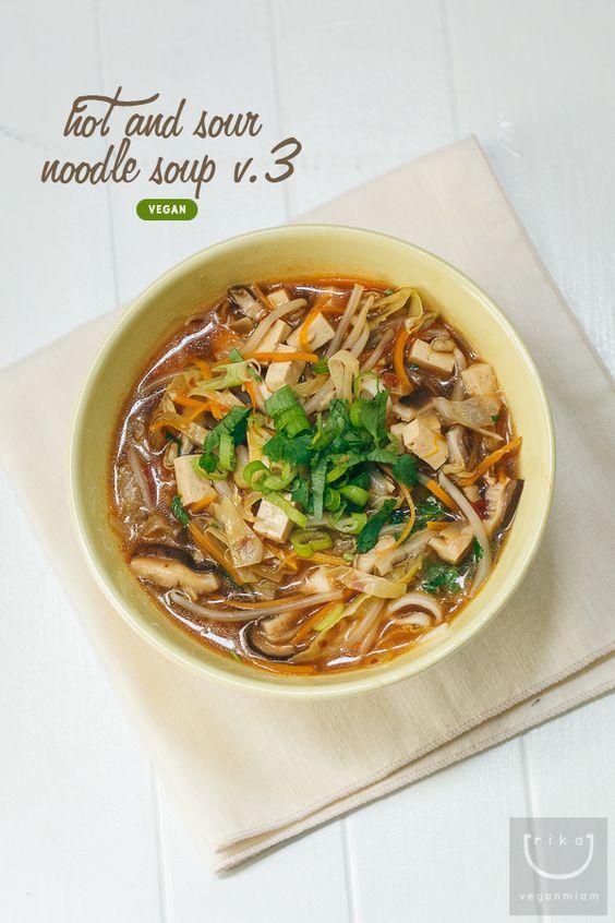 Vegan Hot + Sour Noodle Soup (sorta #Taiwanese) V.3 vegan miam