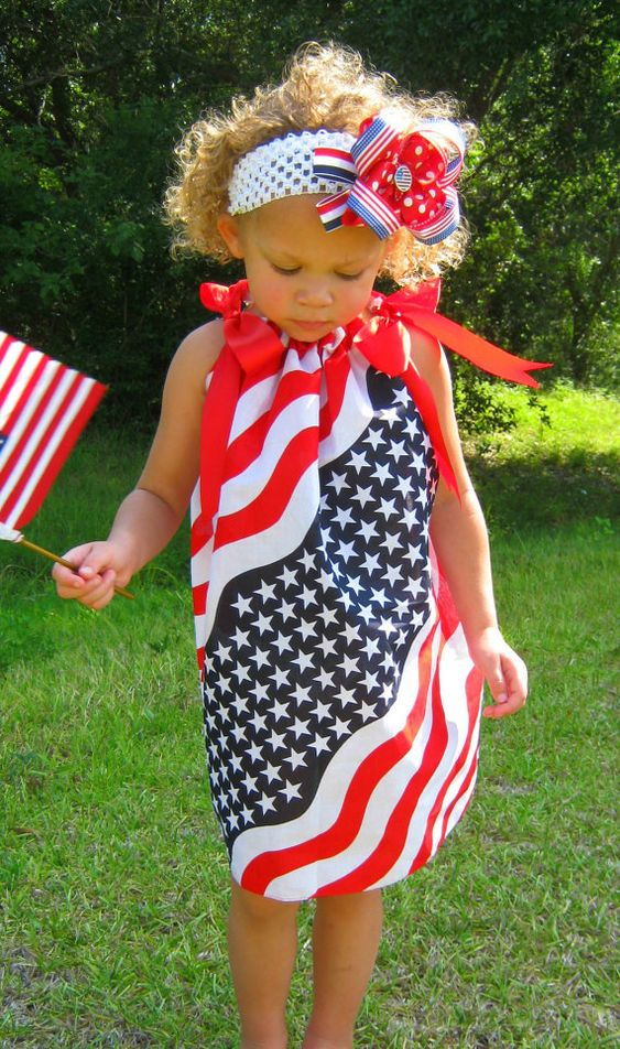 Americana Dress.. the link for making this dress is a halloween dress, but instructions for how to make it are there.  You can adapt it to whatever design you want.: