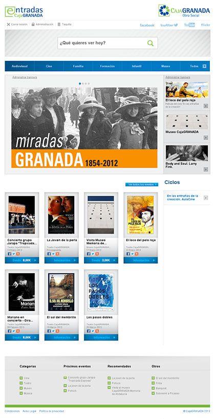 Diseño web para la central de entradas de CajaGranada.