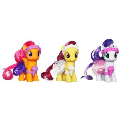My Little Pony, Wedding Flower Fillies Set, Sweetie Belle, Apple Bloom, and Scootaloo, 3-Pack #deals