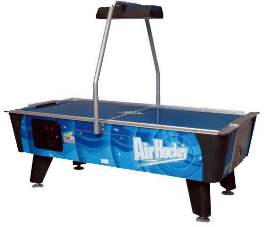 Dynamo 7 Lp Blue Streak W Overhead Electronic Scoring Coin Air Hockey Air Hockey Table Air Hockey Tables