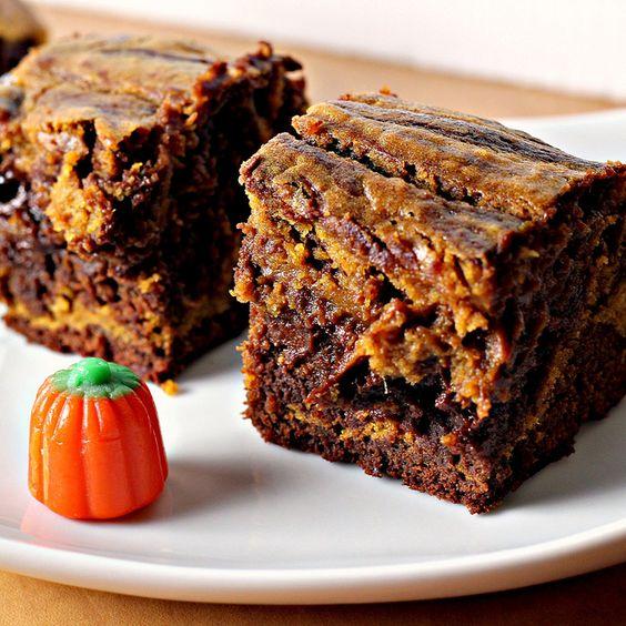 Pumpkin Swirl Brownies!