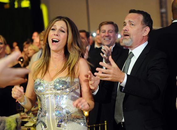 Rita with his husband Tom on the Award program