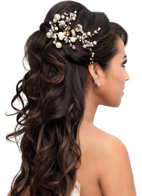 Peinados Para Bodas Pelo Largo Trendypeinados Trendy2019 Long Hair Styles Long Hair Wedding Styles Quince Hairstyles