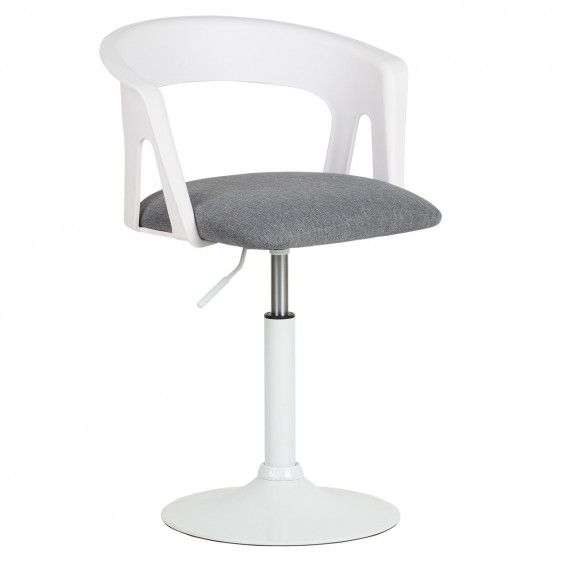 Hartleys White Grey Swivel Desk Chair
