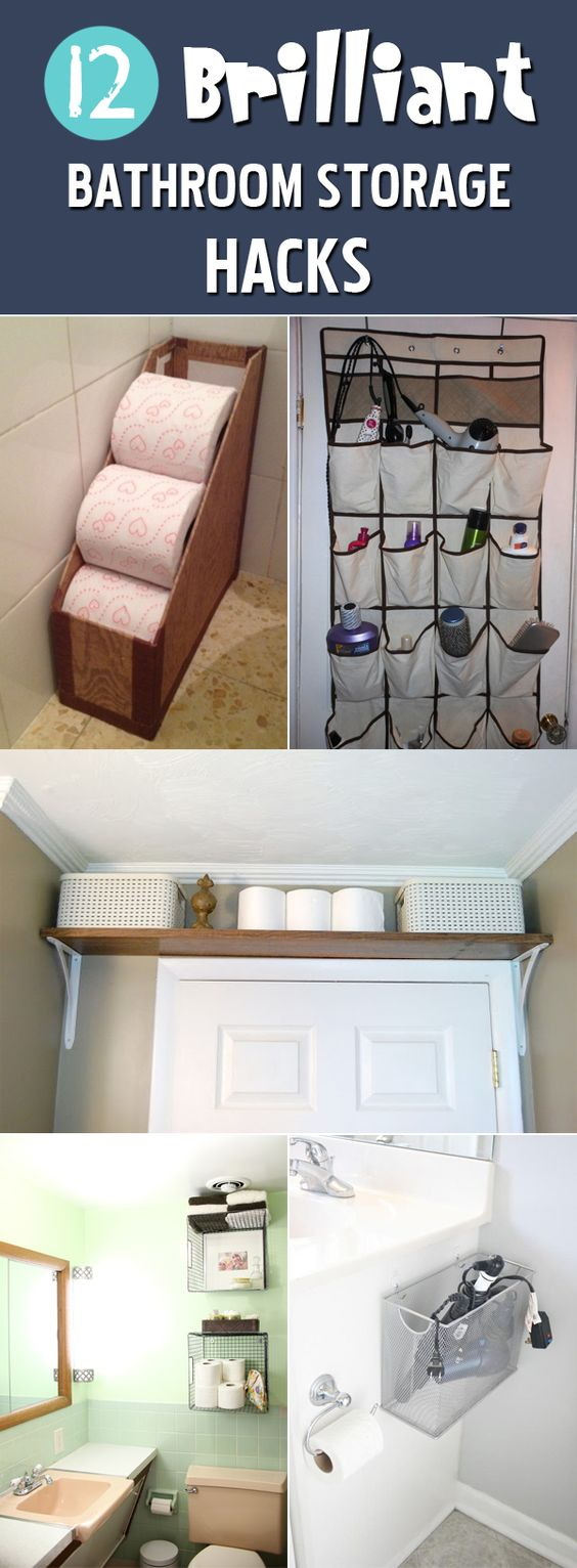 12 Brilliant Bathroom Storage Hacks →