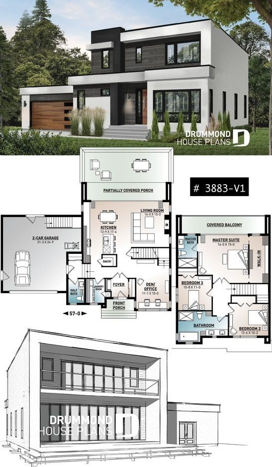 House Plan 3 To 4 Bedrooms 2 5 Bathrooms 2 Car Garages In 2020 Model House Plan House Plans House Blueprints