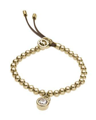 Michael Kors Bead Stretch Bracelet, Golden.