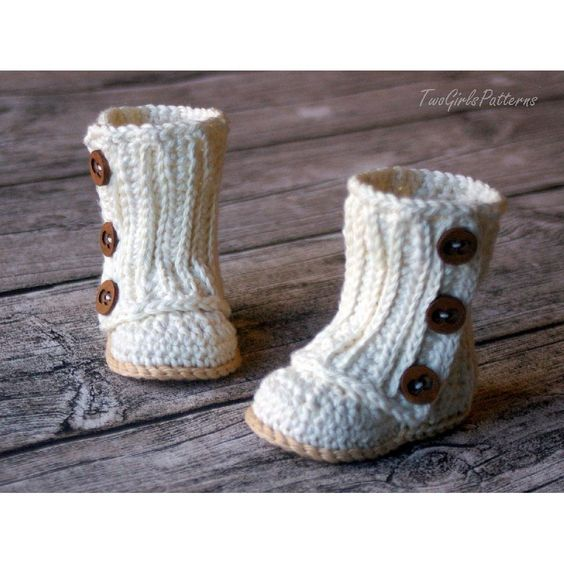 Crochet Patterns For Baby Washcloths : Baby Wrap Boots Crochet pattern by Two Girls Patterns ...