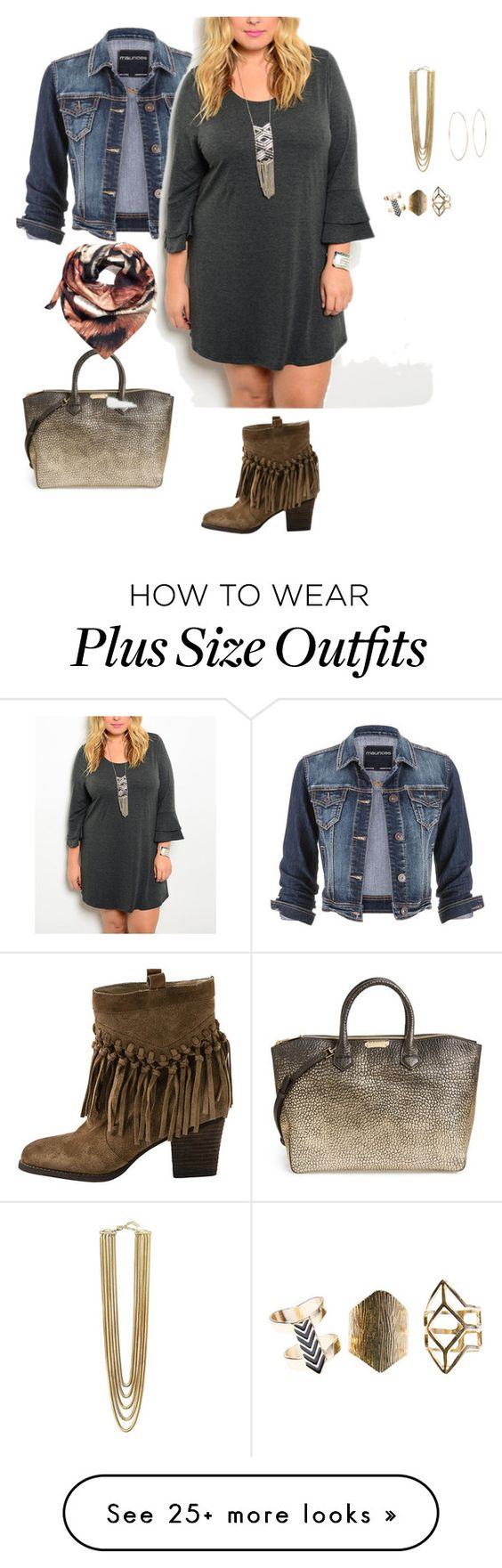"""plus size pretty girl fall"" by kristie-payne on Polyvore featuring Sbicca, maurices, Burberry, Joanna Allsop, Michael Kors, Vince Camuto, Wet Seal and plus size dresses:"