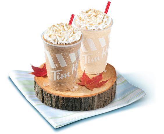 Nouveau Givré crémeux à l'érable et du nouveau Cappuccino glacé à l'érable