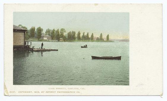 Lake Merritt, Oakland, Calif. /  Copyright, 1902, by Detroit Photograaphic Co.