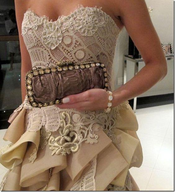 vestido de festa noiva madrinha de renda renascensa ...