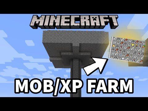 Minecraft 1 16 Easy Mob Xp Farm Tutorial Minecraft Java Bedrock Pocket Edition Youtube Minecraft Automatic Farm Minecraft Farm Minecraft 1
