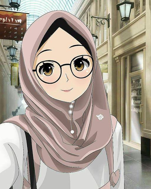 150 Gambar Kartun Muslimah Berkacamata Cantik Sedih Terlengkap Ilustrasi Karakter Kartun Gadis Animasi