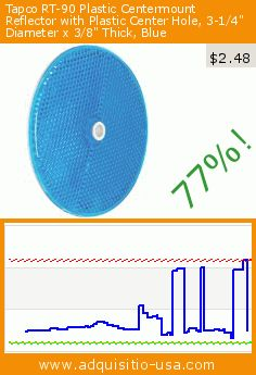 """Tapco RT-90 Plastic Centermount Reflector with Plastic Center Hole, 3-1/4"""" Diameter x 3/8"""" Thick, Blue (Misc.). Drop 77%! Current price $2.48, the previous price was $10.80. https://www.adquisitio-usa.com/tapco-safety/tapco-rt-90-plastic-0"""