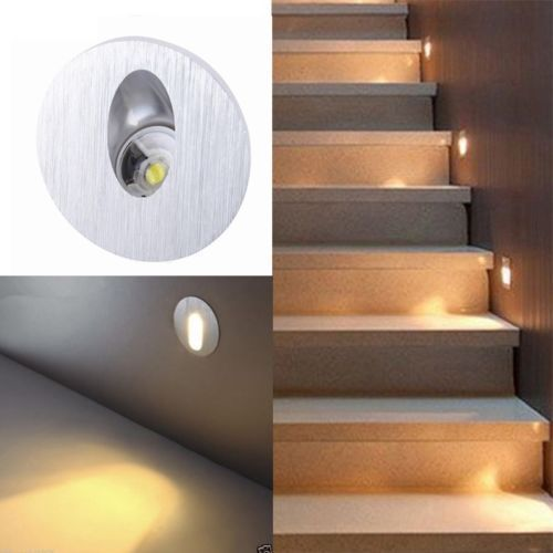 2 4 10x Wall Recessed Light Round 1w Led Cold White Wall Light