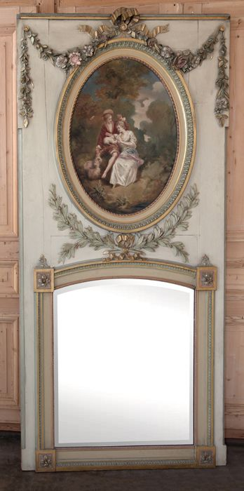 Antique Grand Louis XVI Painted Trumeau | Painted Antiques  | Inessa Stewart's Antiques