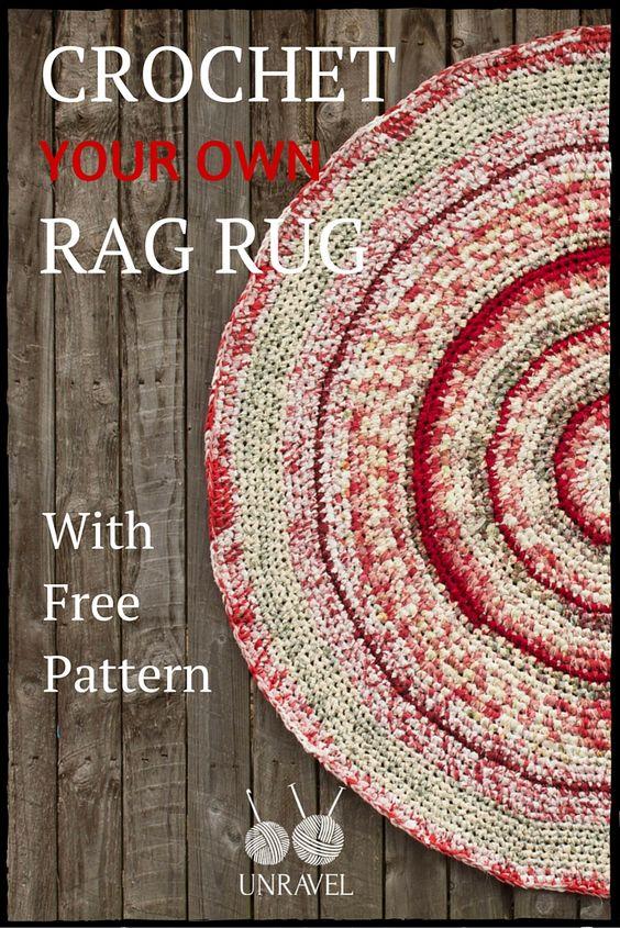 Crochet Your Own Rag Rug (Free Pattern) ༺✿Teresa Restegui✿༻