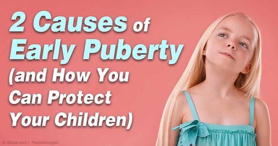 "Two of the leading causes of early puberty, or ""precocious puberty,"" include hormone-disrupting chemicals and vitamin D deficiency. http://articles.mercola.com/sites/articles/archive/2012/04/16/early-precocious-puberty.aspx"