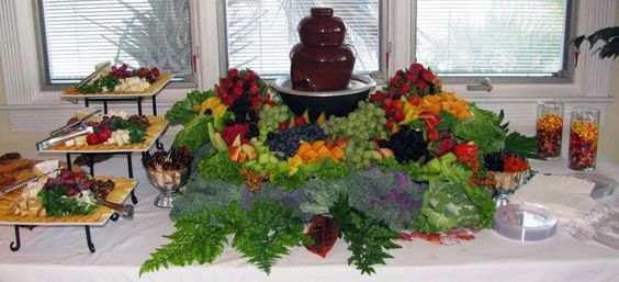 Waterfall Fruit And Veggie Displays: Fruit And Vegetable Display Ideas For Weddings