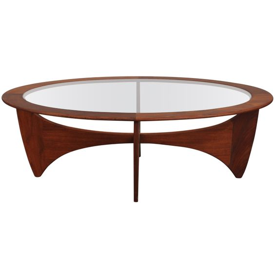 Pedestal cocktails and antiques on pinterest for Contemporary oval coffee tables