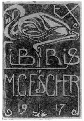 MC Escher Bookplate (1917)
