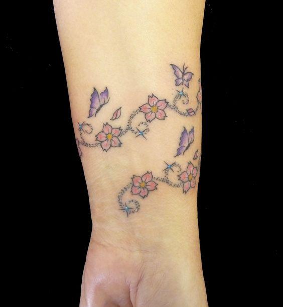 butterfly tattoos on wrist | By Artsaurus