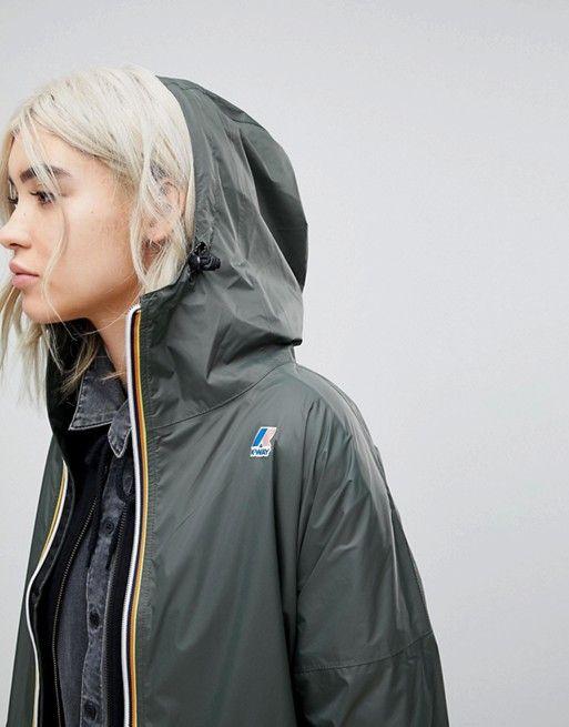 K Way Longline Waterproof Jacket
