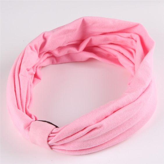 Cotton Elastic Sports Wide Headband