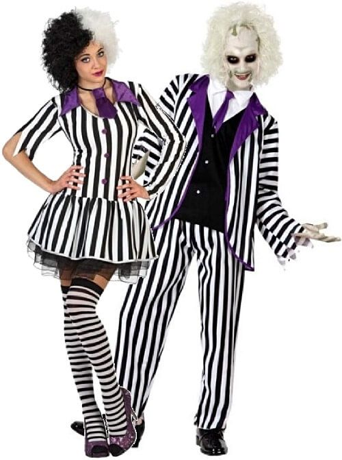Beetlejuice Ladies Halloween Party Fancy Dress Costume Outfit