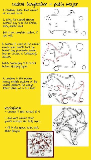 KABELGEWIRR und Sachen: Cadent Tangle Tangleation von Patti Meijer, zertifizierte Zentangle Lehrer. Cadent ist ein offizieller Zentangle von Maria Thomas, Zentangle-Gründer 5749
