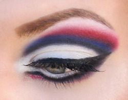 4th of July Makeup! Wish I could do this!