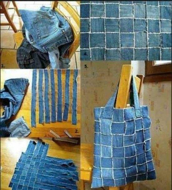 60 Originelle Jeans Upcycling Ideen Zum Nachmachen Jeans Diy Diy Old Jeans Diy Handbag