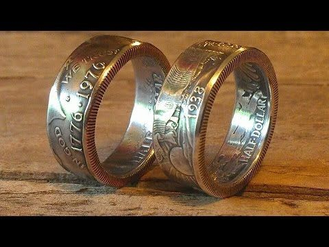 Finish polishing silver double sided coin rings
