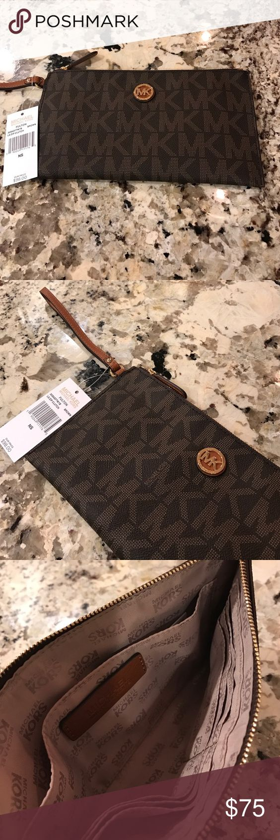 Michael Michael Kors Large Zip Clutch♦️ Michael Michael Kors Large Zip Clutch♦️. NEW with tags!  Inside has large open slip pocket that fits iPhone 7 Plus and 6 card slots. MICHAEL Michael Kors Bags Clutches & Wristlets