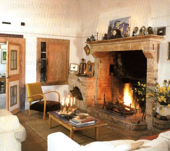 Salotto Con Camino Pietra Viva E Veranda Interior Design : Google and ...