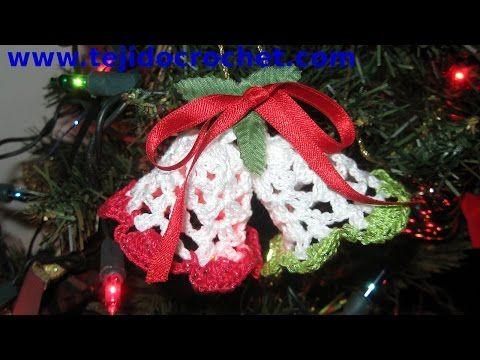 Campanas de navidad en tejido crochet tutorial paso a paso - Campanas de navidad ...