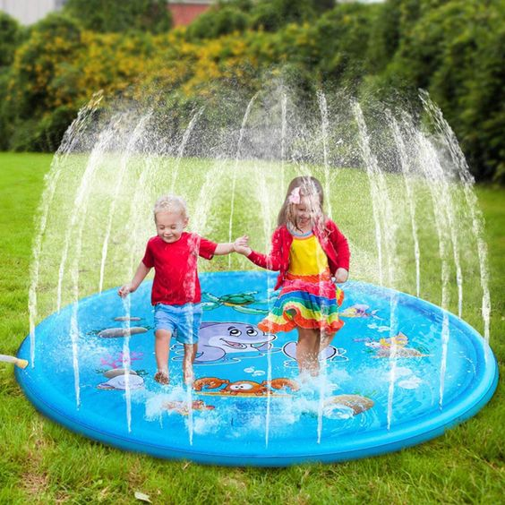 Buy 1 Piece Kid S Water Park Inflatable Odorless Eco Friendly Spray Water Mat Large Outdoor Toys At Jolly Chic In 2020 Swimming Pool Toys Outdoor Tub Water Pad