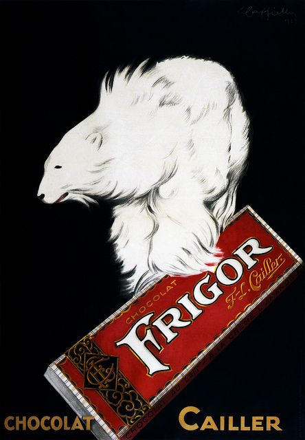 Frigor, Chocolat Cailler, poster by Leonetto Cappiello, 1929 by trialsanderrors, via Flickr: Vintage Poster, Vintage Advertisement, Vintage Graphics Advertisement, Leonetto Cappiello, Vintage Ads, Advertising Posters, Vintage Advertising