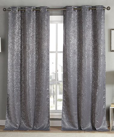 Curtains Ideas blackout drapes and curtains : Duck River Textile Gray Metallic Maddie Blackout Curtain Panel ...