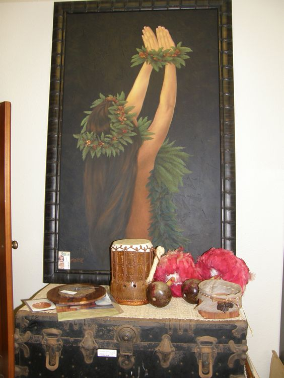 This is just a huge beautiful painting. I call it lovely Hula Hands, its just breathtaking!