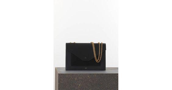 celine pocket leather handbag