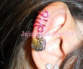 Hello Kitty Ear Cuff @ http://www.jujubeads-jewelry.com