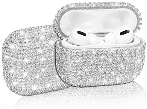 Amazon Com Diamond Airpods Pro Case Cover Gdrtwwh Protective Bling Crystal Charging Case Hard Carrying Cover Accessories For Appl Case Cover Bling Airpods Pro